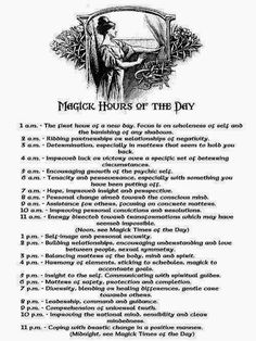 Crone Cronicles: Magick and the hours of the day