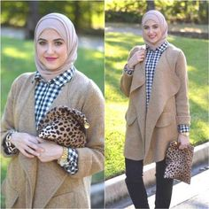 beige coat hijab style leena asad, Winter hijab street styles by leena Asaad http://www.justtrendygirls.com/winter-hijab-street-styles-by-leena-asaad/