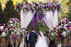 A Majestic Purple-Infused Castle Wedding