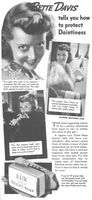 Bette Davis Lux Toilet Soap 1937 Ad Picture