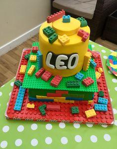 Lego cake for Leo
