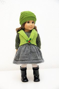 Christmas Holly Outfit 1 by StassyDodge on Etsy, $25.00