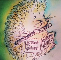 Just adorable!  Hedgehog playing flute! From @elisabeth_flute on Instagram.