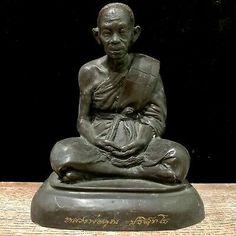 "7.1"" Lp Luang Phor Koon Thai Monk Buddha Statue Amulet ""Nakhon Ratchasima"" | eBay Thai Monk, Thai Buddha Statue, Spiritual Figures, 21 Years Old, Buddhism, Meditation, Bronze, Lp, Antiques"