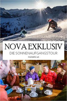 """Du willst die ersten Spuren auf den frisch präparierten Pisten ziehen? Dann ist die Sonnenaufgangsfahrt """"Nova Exklusiv"""" genau das Richtige für Dich. Genieße das wundervolle Bergpanorama in den frühen Morgenstunden ganz für Dich alleine. Krönender Abschluss ist das herzhafte Bergfrühstück in der Nova Stoba. #skifahren #schnee #winter #winterwonderland #nova #silvretta #sonnenaufgang #panorama #bergfruehstueck #meinmontafon #echterlebt #visitvorarlberg Nova, Movies, Movie Posters, Event Calendar, Winter Vacations, Sunrise, Ski, Financial Statement, Snow"""