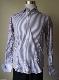 #ebay Michelsons men dress shirt size 15 - 32/33 french cuffs spread collar white withing our EBAY store at  http://stores.ebay.com/esquirestore