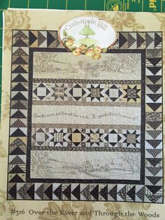 QUILTSY DESTASH PARTY Quilt Pattern  Over the River and Through the Woods by backporchquilts on Etsy