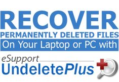 UndeletePlus 3.0.8.216  UndeletePlus  Whether it was a precious family photo or a lengthy term paper eSupport UndeletePlus helps you recover and restore important files even after your Recycle Bin has been emptied. eSupport UndeletePlus is a powerful software program with an easy-to-use interface that quickly scans any laptop or PC for deleted files allowing users to restore specific files on command. eSupport UndeletePlus works with computers flash drives cameras and other forms of data…
