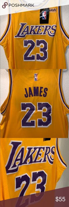 aa965125d NWT Nike LeBron James Gold Los Angeles swingman 100% authentic Los Angeles  Lakers Icon Edition swingman jersey! Brand new with tags Nike connect+  Size  ...