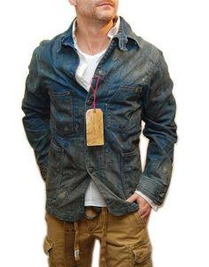ec41cd9c0539 Ralph Lauren Double RL RRL Men Rare Vintage Western Jean Denim Jacket USA  Medium