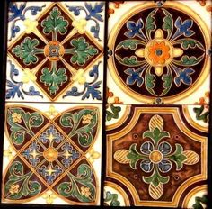 ♔ Art: The World of Ornament Tile Art, Mosaic Art, Mosaic Tiles, Tiling, Victorian Tiles, Antique Tiles, Art Nouveau Tiles, Traditional Tile, Style Tile