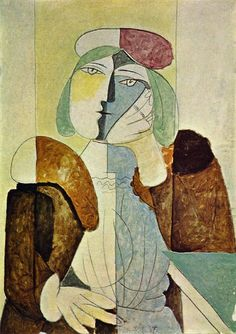 """""""A Long Time Alone"""" by Pablo Picasso~ Portrait de femme aux beret 1937"""