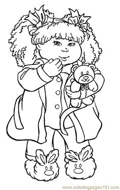 cabbage patch coloring pages - photo#22