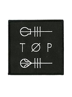 """<p><span id=""""webDesc"""">Iron-on patch with embroidered Twenty One Pilots """"TOP"""" logo design.</span><span id=""""webDescSpan""""> </span></p><ul> <li><span id=""""bullet0"""">Approx. 3 3/4"""" x 3 3/4""""</span></li> <li><span id=""""bullet1"""">Imported</span><span id=""""bullet1Span""""> </span></li></ul>"""