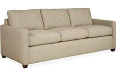 Lee Industries 1932-03  Sofa    Overall: W76  D33  H32    Inside: W69  D20  H17    Seat Height: 18  Arm Height: 23  Back Rail Height: 27