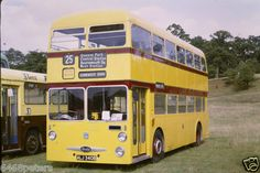 Bournemouth Daimler fleet yellow buses. I remember them running on overhead electric wires.