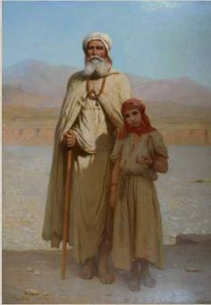 Algeria - French Painter Charles Zacharie Landelle oil on canvas, Title: The blind Biskra Mediterranean Art, Love Poetry Images, Islamic Paintings, Historical Art, Arabian Nights, North Africa, Islamic Art, American Artists, Oeuvre D'art