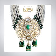 Our Emerald, Polki and Pearl statement piece redefines trendsetting with a traditional touch #jewellery #pearls #mbj #diamonds #sapphires #emeralds #polki #potd #rings #earrings #diwali #festive #gems #instajewelry #fashion #style #stylish #womenstyle #instabeauty #india #necklace #luxury #chic #jewelry #handmade #jotd #style #trend
