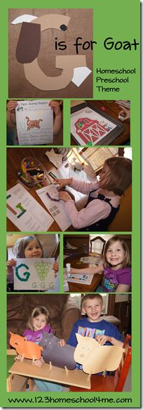 G is for Goat is part of our alphabet activities for preschoolers series. Find a letter G and goat alphabet crafts plus story telling with 3 Billy Goats Gruff