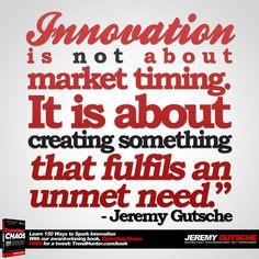 Innovation Fufils an Unmet Need - Innovation Strategy Speaker Jeremy Gutsche on Overcoming Crisis