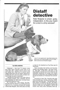 NY Daily News TV Week Feb. 25-March 3, 1979 www.totallykate.c...  Page 1 Kate Mulgrew, 25 March, Daily News, Detective, Star Trek, Tv, Starship Enterprise, Television Set, Television