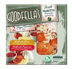Goodfella's Chilled Pizza Packaging by Mesh Design, Dublin. www.meshdesign.ie