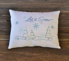 Let it Snow Decorative Pillow  Winter by RyensMarketplace on Etsy