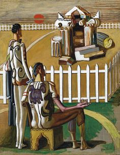 Find artworks by Giorgio de Chirico (Italian, 1888 - on MutualArt and find more works from galleries, museums and auction houses worldwide. Italian Painters, Italian Artist, Traditional Paintings, Contemporary Paintings, Arte Popular, Weird Pictures, Surreal Art, Painting Techniques, Sculpture