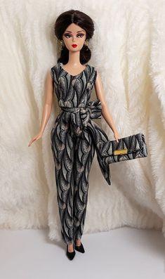 ba67a5959ee2 Handmade Blue Leopard Outfit Dress & Bag Hairband For Barbie Silkstone Doll  #Sitar_Large_Super_Rich #BarbieFashion   Barbie Fashion in 2019   Pinterest  ...