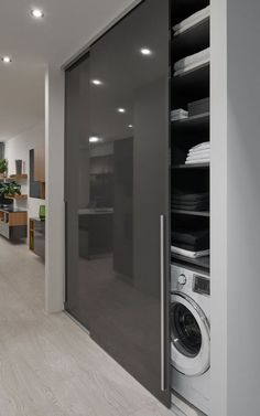 satniskrin skrin wardrobe slidinigdoor offene K che - My Modern Laundry Rooms, Laundry Room Design, Modern Bathroom, Small Bathroom, Bathroom Ideas, Boho Bathroom, Dream Bathrooms, Bathroom Vanities, White Bathrooms