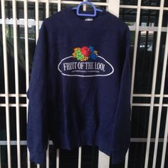 Vintage 90's Fruit Of The Loom crewneck sweatshirt big logo M size by bintangclothingstore on Etsy https://www.etsy.com/listing/531655798/vintage-90s-fruit-of-the-loom-crewneck