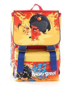Zaino Scuola Angry Birds Rosso Estensibile per Elementari Bambini…