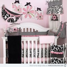 Sarah, if you ever have a little girl, we must decorate it just like this! Girl Nursery, Nursery Ideas, Baby Girl Crib Bedding, Baby Bedding Sets, Crib Sets, Pink Bedding, Nursery Room, Pink Crib, Themed Nursery
