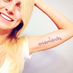 An amino acid sequence. | 23 Incredibly Elegant Science Tattoos