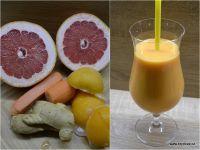 Skvělý je i zázvor. Grapefruit, Smoothies, Vegetables, Drinks, Food, Smoothie, Drinking, Beverages, Vegetable Recipes