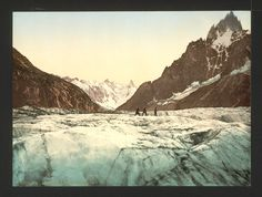 Mer de Glace, Mont Blanc, Chamonix Valley, France, Photochrome, 1890 (Library of Congress)