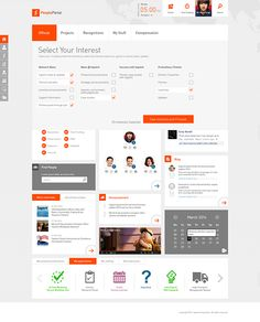 SharePoint Intranet on Behance