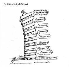 Así se percibe un sismo en edificios.