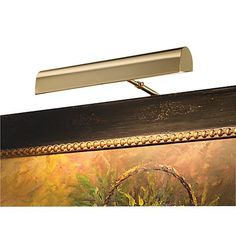 """House of Troy 14"""" Wide Plug-In Brass Picture Light"""