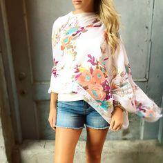 >petals< • • • #bellaragazzaboutique #poncho #floral #delicate #lace #summer #style #boutique #shop