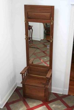 Small Hall Tree Storage Bench - Home Furniture Design Narrow Hall Tree, Hall Tree With Mirror, Entryway Hall Tree, Hall Tree Storage Bench, Tree Bench, Bench With Storage, Antique Coat Rack, Wall Drying Rack, Home Furniture