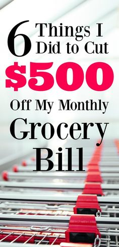 I'm totally blown away by the results, but by making a few simple adjustments I was able to cut $500 off our grocery bill this month! The best part is that I'm sure that savings will only grow. Check out what you need to be doing!
