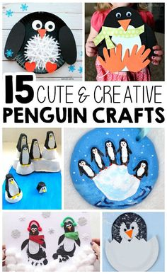 These 15 creative penguin crafts make the perfect winter kids craft, preschool craft, and winter animal craft for kids. These 15 creative penguin crafts make the perfect winter kids craft, preschool craft, and winter animal craft for kids. Winter Crafts For Toddlers, Arts And Crafts For Teens, Art And Craft Videos, Animal Crafts For Kids, Winter Kids, Toddler Crafts, Preschool Crafts, Art For Kids, Arts And Crafts Movement