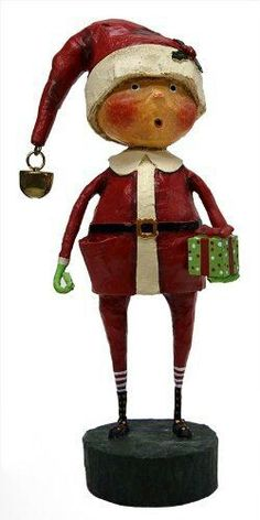 LORI MITCHELL ~ Flurry ~ Christmas Folk Art Snowman Figurine ~ Free Shipping