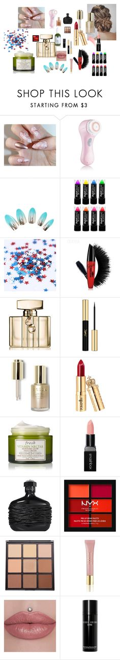 """My 5 Year Old Daughter Wanted to Play :)"" by maheanani ❤ liked on Polyvore featuring beauty, Clarisonic, Gucci, Yves Saint Laurent, Stila, Fresh, Smashbox, John Varvatos, NYX and Morphe"