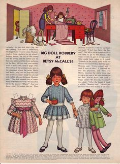 Big doll robbery at Betsy McCall's!   November 1972