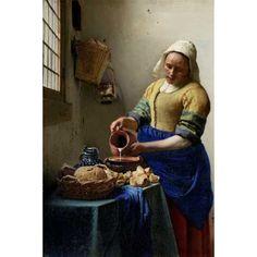Glas schilderij - Melkmeisje van Vermeer   Loods 5   Jouw stijl in huis meubels & woonaccessoires