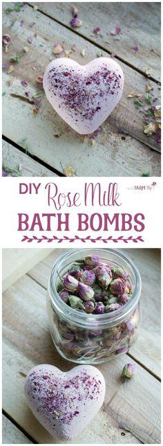 DIY Rose Milk Bath Bombs