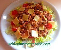 Burger Salat – low carb Mittlerweile ein Klassiker unter den low carb – Rezepten und für alle die manchmal Lust auf Fastfood haben hier der Burger Salat: Zutaten für 2 Personen: …