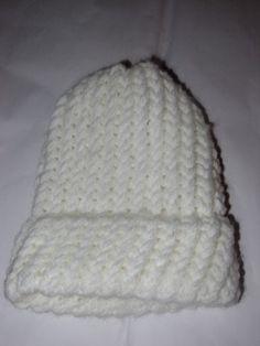 Knit Baby Hat: white